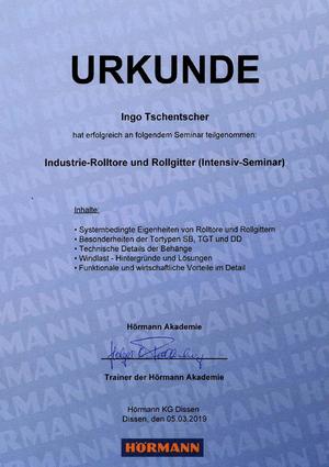 Industrie-Rolltore und Rollgitter (Intensiv-Seminar)
