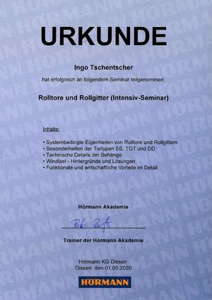Rolltore und Rollgitter (Intensiv-Seminar)